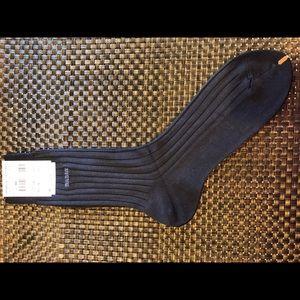Bally Ribbed Dress Sock- Dark Charcoal